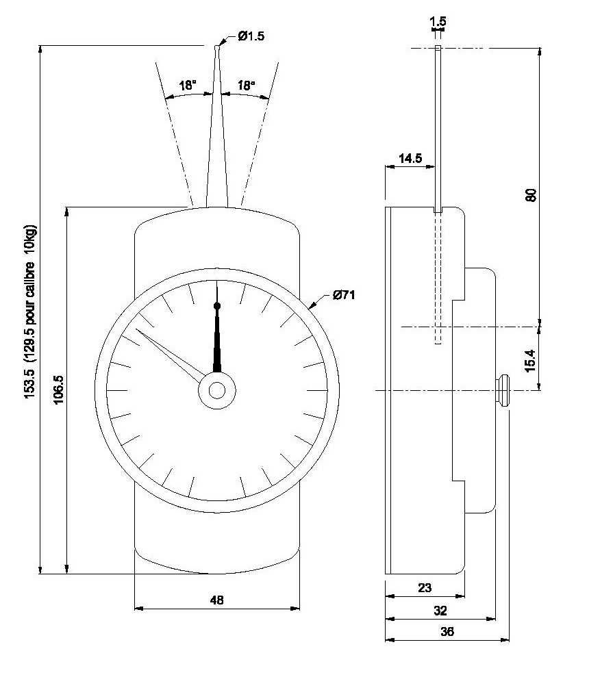 Dinamómetro Somfytec dm10 dm20