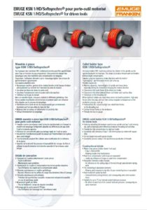 Distributeur Mandrin Emuge, catalogue outil Emuge