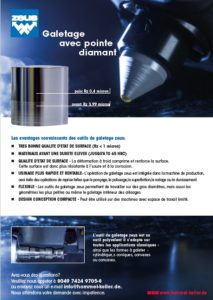 Catalogue outils de galetage avec point diamant
