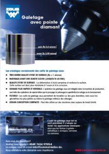 Catalogue outils de galetage avec point diamant
